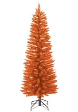 Pre-Lit 3 Foot Orange Halloween Tree