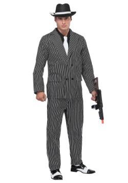 Men's Wide Pin Stripe Gangster Costume