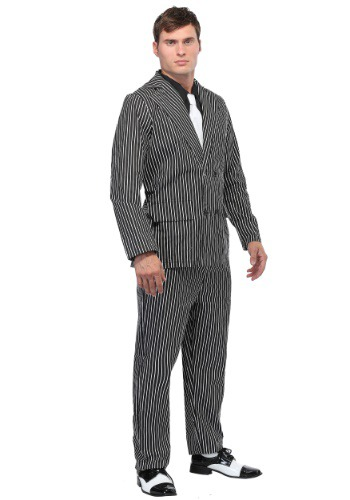 Mens Wide Pin Stripe Gangster Costume