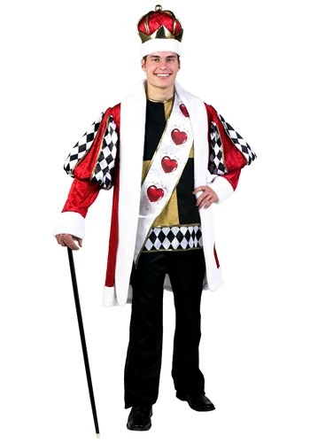 Click Here to buy Deluxe King of Hearts Costume from HalloweenCostumes, CDN Funds & Shipping