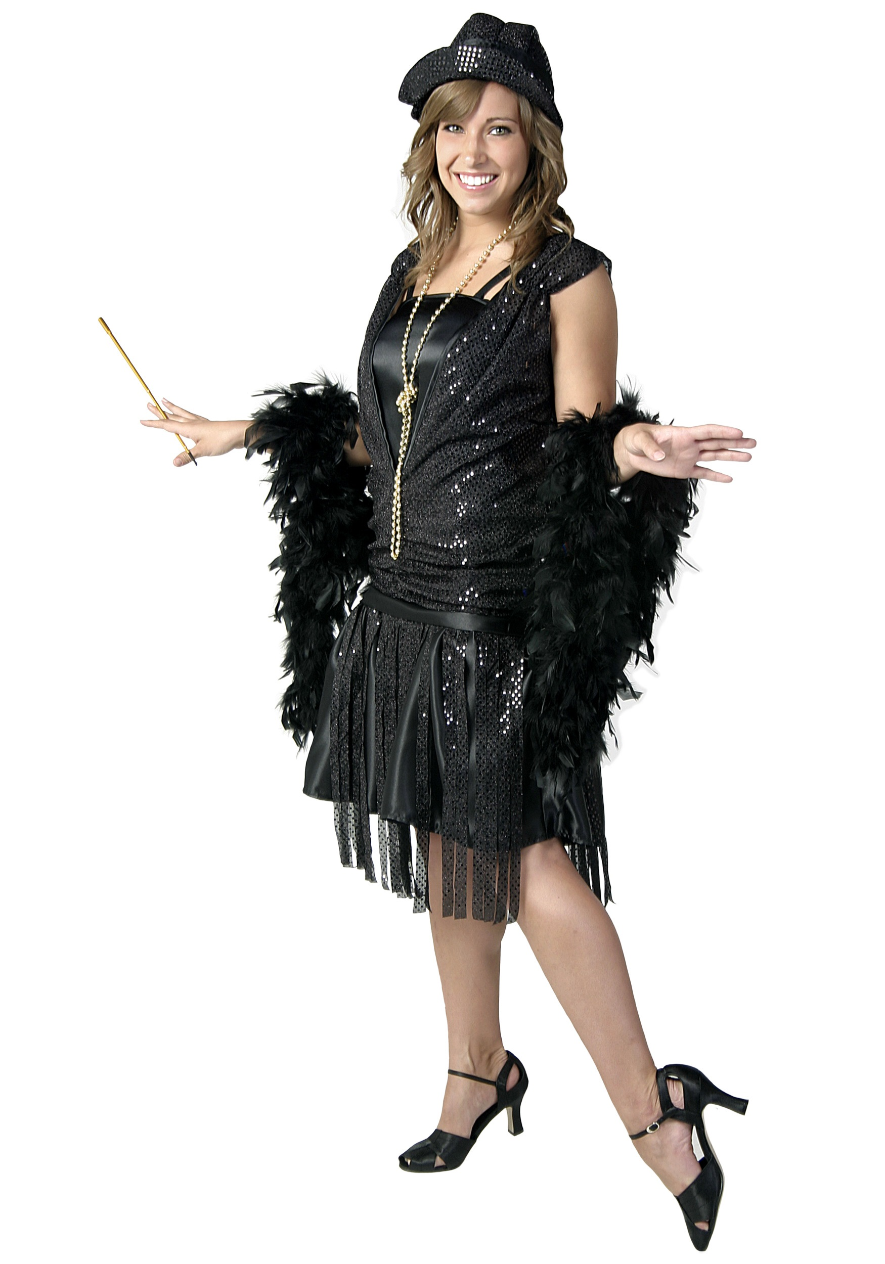 54d77db7b32 Black Jazz Flapper Costume