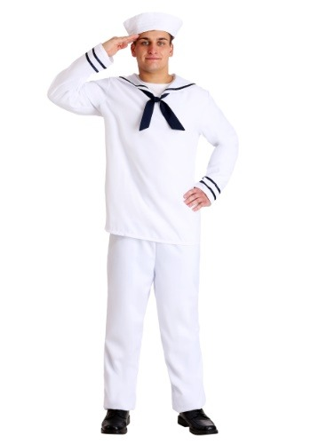Click Here to buy Mens White Sailor Costume from HalloweenCostumes, CDN Funds & Shipping