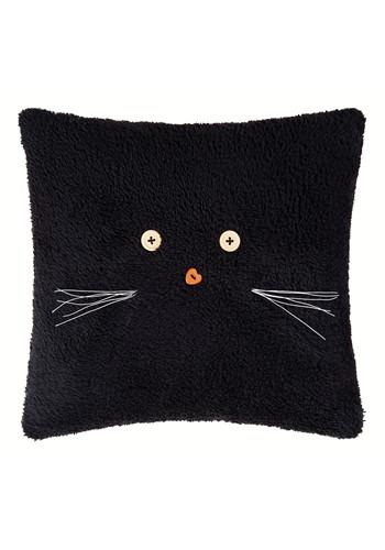 "Black Cat 12"" Halloween Decor Pillow"