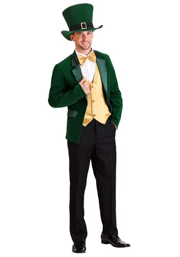 Mens Gold and Green Leprechaun Costume