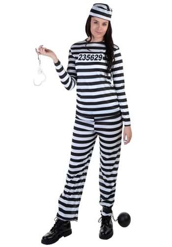 Womens Striped Prisoner Costume