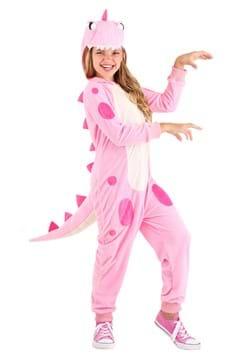 Girl's Pink Dinosaur Onesie Main