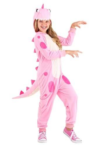 Pink Dinosaur Girls Onesie