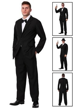 Mens Black Suit Costume 1