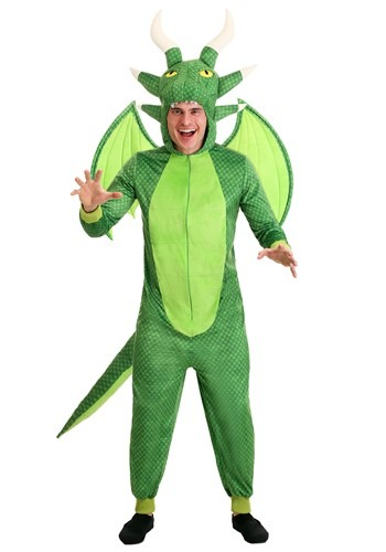 Mens Untamed Dragon Jumpsuit Costume