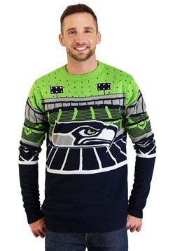 Seattle Seahawks Light Up Bluetooth Ugly Christmas Sweater