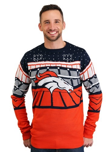 Denver Broncos Light Up Bluetooth Ugly Christmas Sweater