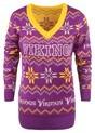 Minnesota Vikings Women's Light Up V-Neck Bluetooth Sweater