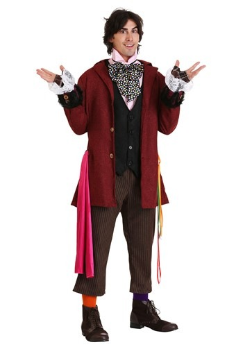Click Here to buy Mens Authentic Mad Hatter Costume | Movie Character Costume from HalloweenCostumes, CDN Funds & Shipping