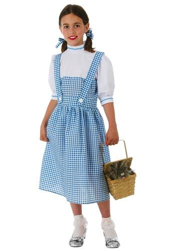 Click Here to buy Kids Kansas Girl Dress Costume from HalloweenCostumes, CDN Funds & Shipping