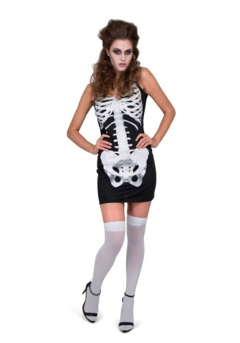 Click Here to buy Womens Skeleton Dress Costume from HalloweenCostumes, CDN Funds & Shipping