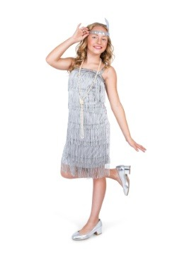 Girl's Silver Flapper Costume