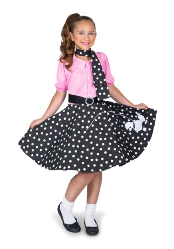 Girls Sock Hop Cutie Costume