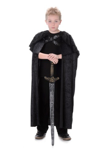 Northern King Black Fur Cape