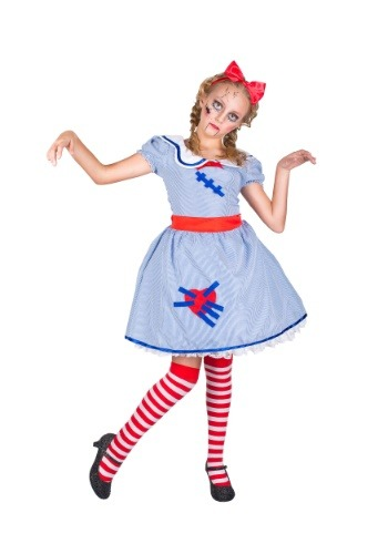 Girl's Broken Doll Costume