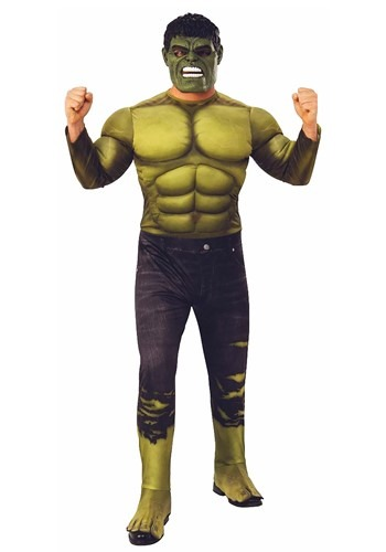 Click Here to buy Deluxe Hulk Costume for Adults from HalloweenCostumes, CDN Funds