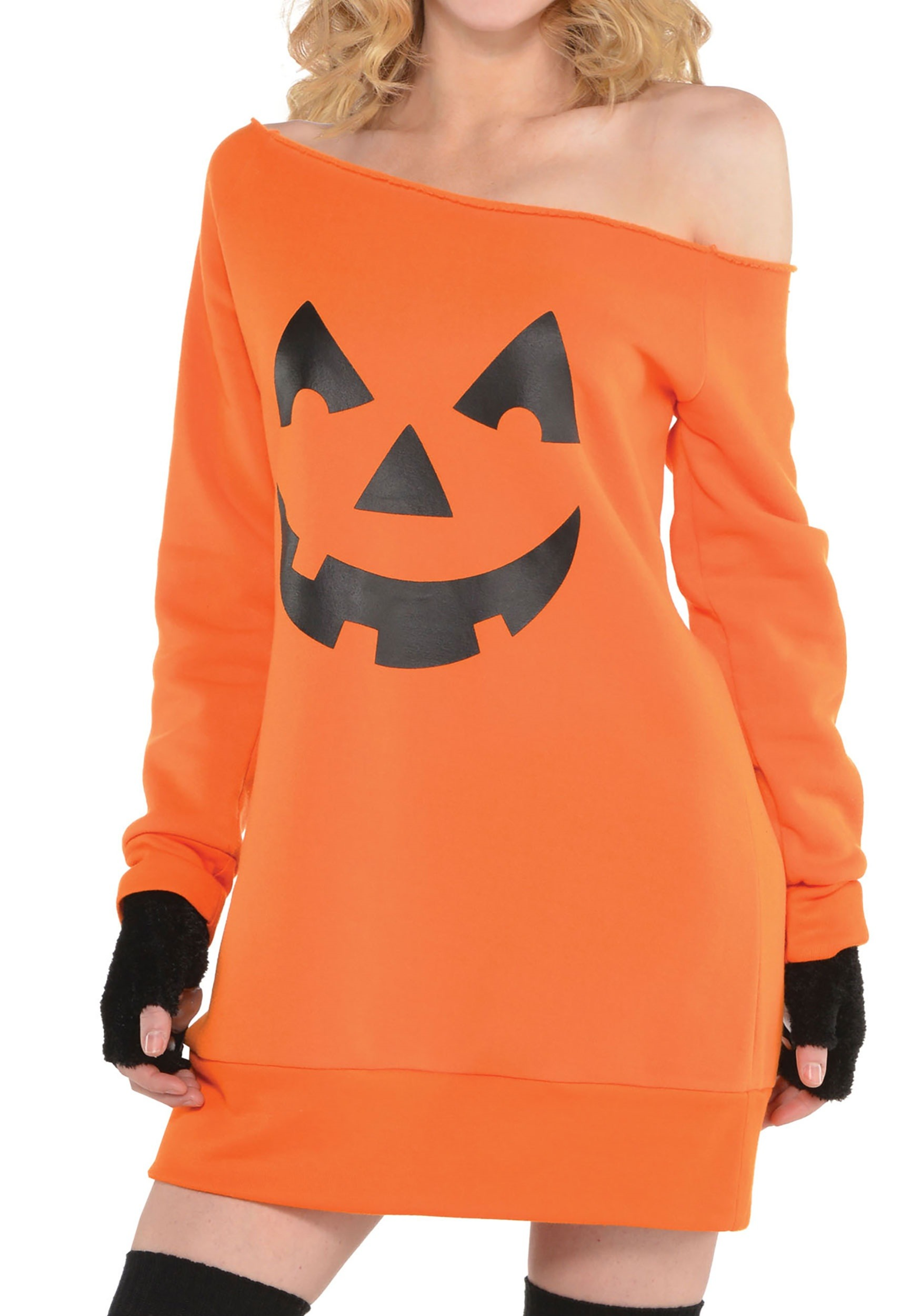 Pumpkin_Off_the_Shoulder_Tunic_for_Women