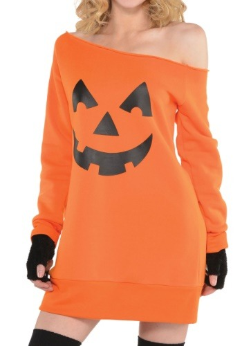 Pumpkin Off the Shoulder Tunic for Women