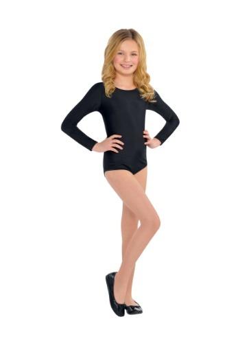 Girls Black Costume Bodysuit