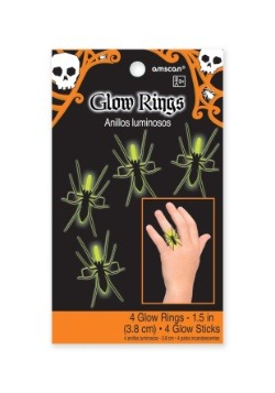 Bag of Glow Spider Rings (4 per pack)