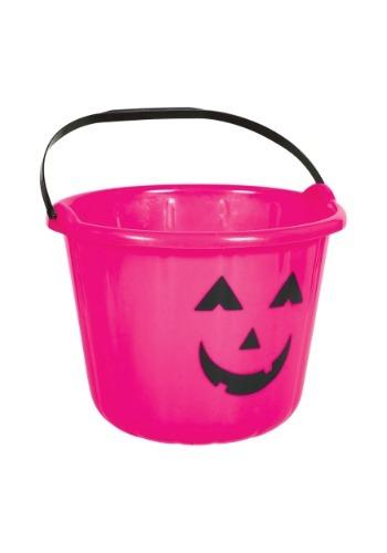 Pink Pumpkin Treat Bucket