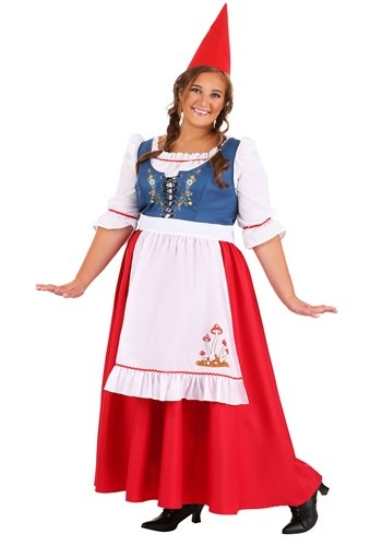 Click Here to buy Womens Garden Gnome Plus Size Costume from HalloweenCostumes, CDN Funds & Shipping