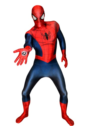 Click Here to buy Deluxe Ultimate Spider-Man Morphsuit for Men from HalloweenCostumes, CDN Funds & Shipping