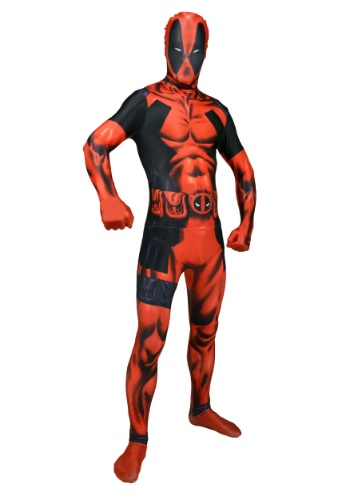Click Here to buy Mens Deadpool Morphsuit Costume from HalloweenCostumes, CDN Funds & Shipping