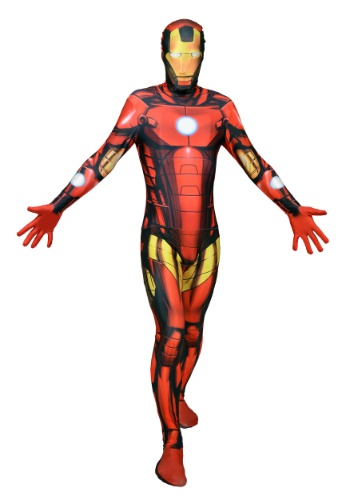 Click Here to buy Mens Deluxe Iron Man Morphsuit Costume from HalloweenCostumes, CDN Funds & Shipping