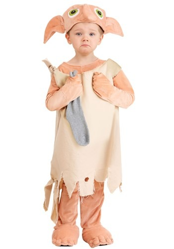 Click Here to buy Harry Potter Deluxe Dobby Costume for Toddlers from HalloweenCostumes, CDN Funds & Shipping