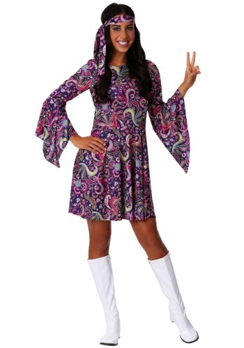Click Here to buy Womens Woodstock Hippie Costume from HalloweenCostumes, CDN Funds & Shipping