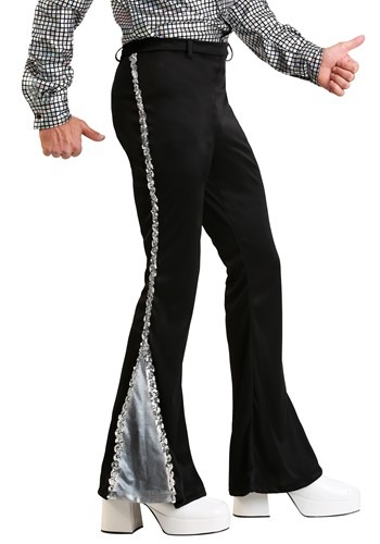 Silver Sequin Mens Disco Pants