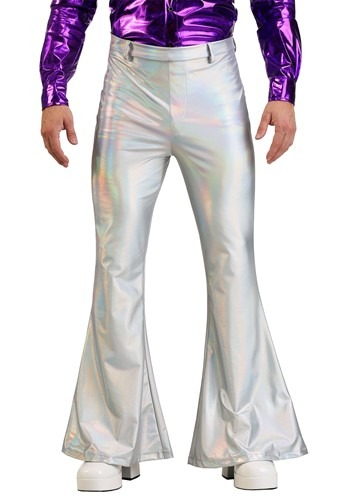 Holographic Disco Pants for Men
