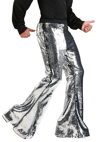 Mens Reversible Sequin Disco Pants