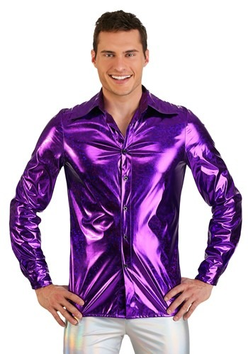Click Here to buy Shattered Glass Mens Disco Shirt from HalloweenCostumes, CDN Funds & Shipping