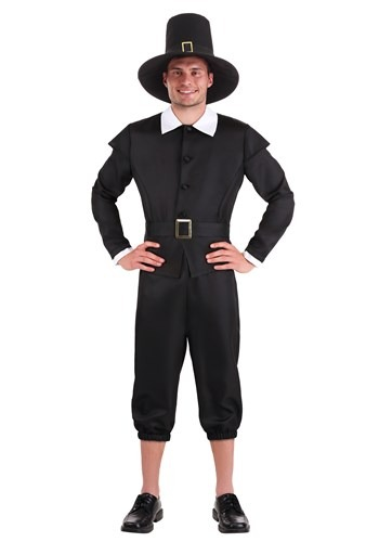 Click Here to buy First Pilgrim Costume Plus Size Mens from HalloweenCostumes, CDN Funds & Shipping