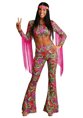 Womens World Peace Hippie Costume | 70s Costumes Women
