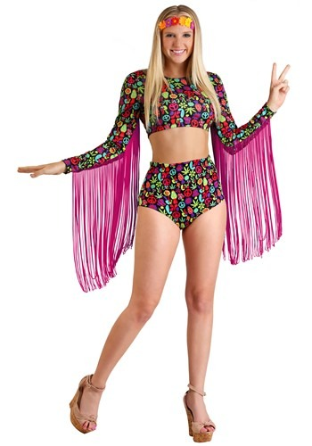 Click Here to buy Free Spirit Womens Hippie Costume from HalloweenCostumes, CDN Funds & Shipping
