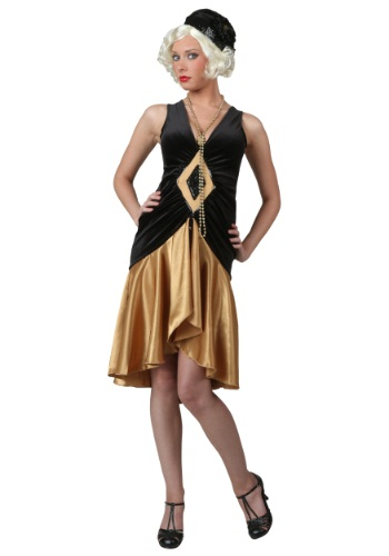 Click Here to buy Roaring 20s Plus Size Flapper Costume from HalloweenCostumes, CDN Funds & Shipping