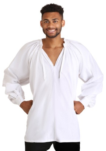 Click Here to buy Plus Size White Peasant Shirt from HalloweenCostumes, CDN Funds & Shipping