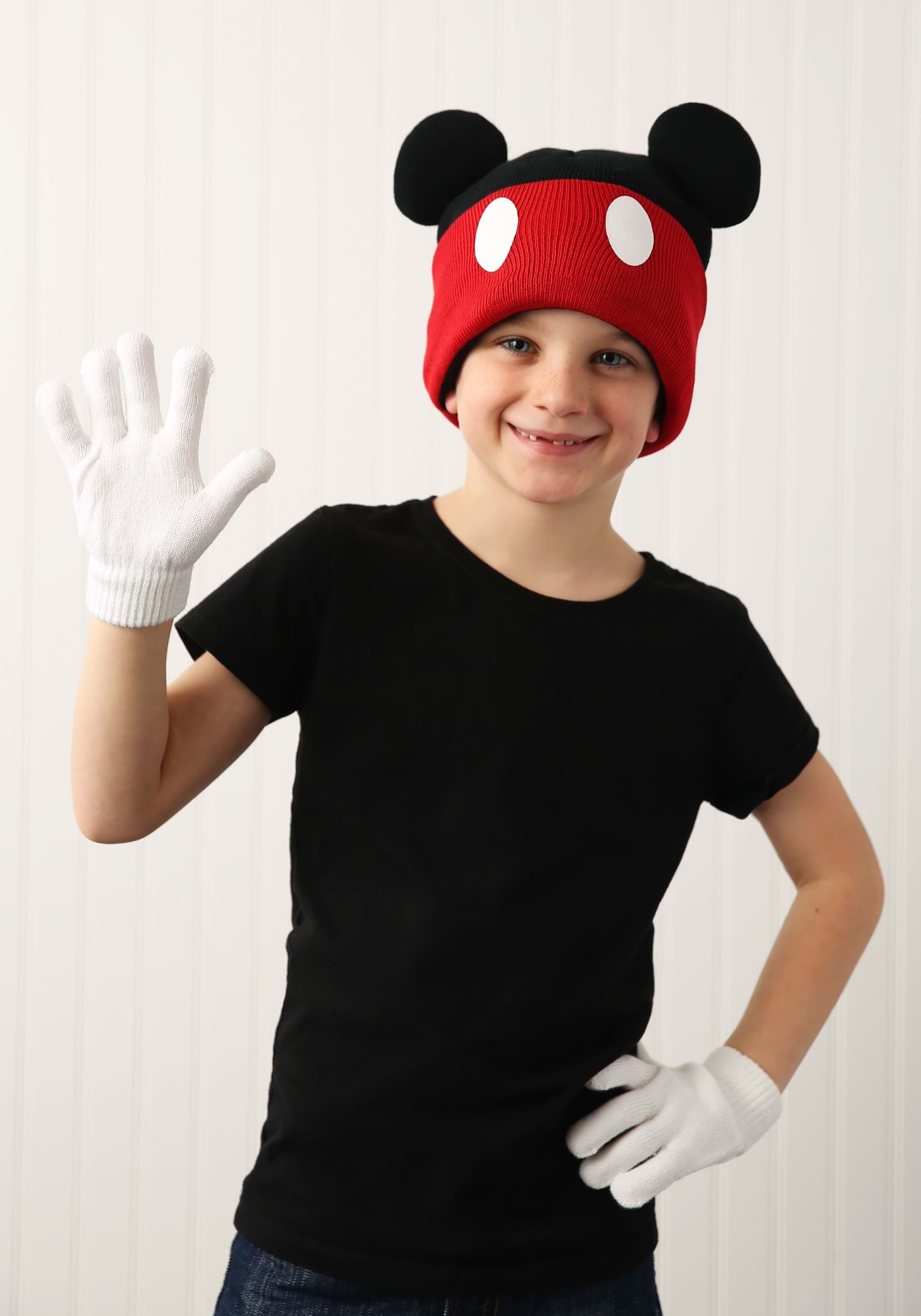 INOpets.com Anything for Pets Parents & Their Pets Mickey Mouse Knit Cuff Beanie w/ Gloves Set