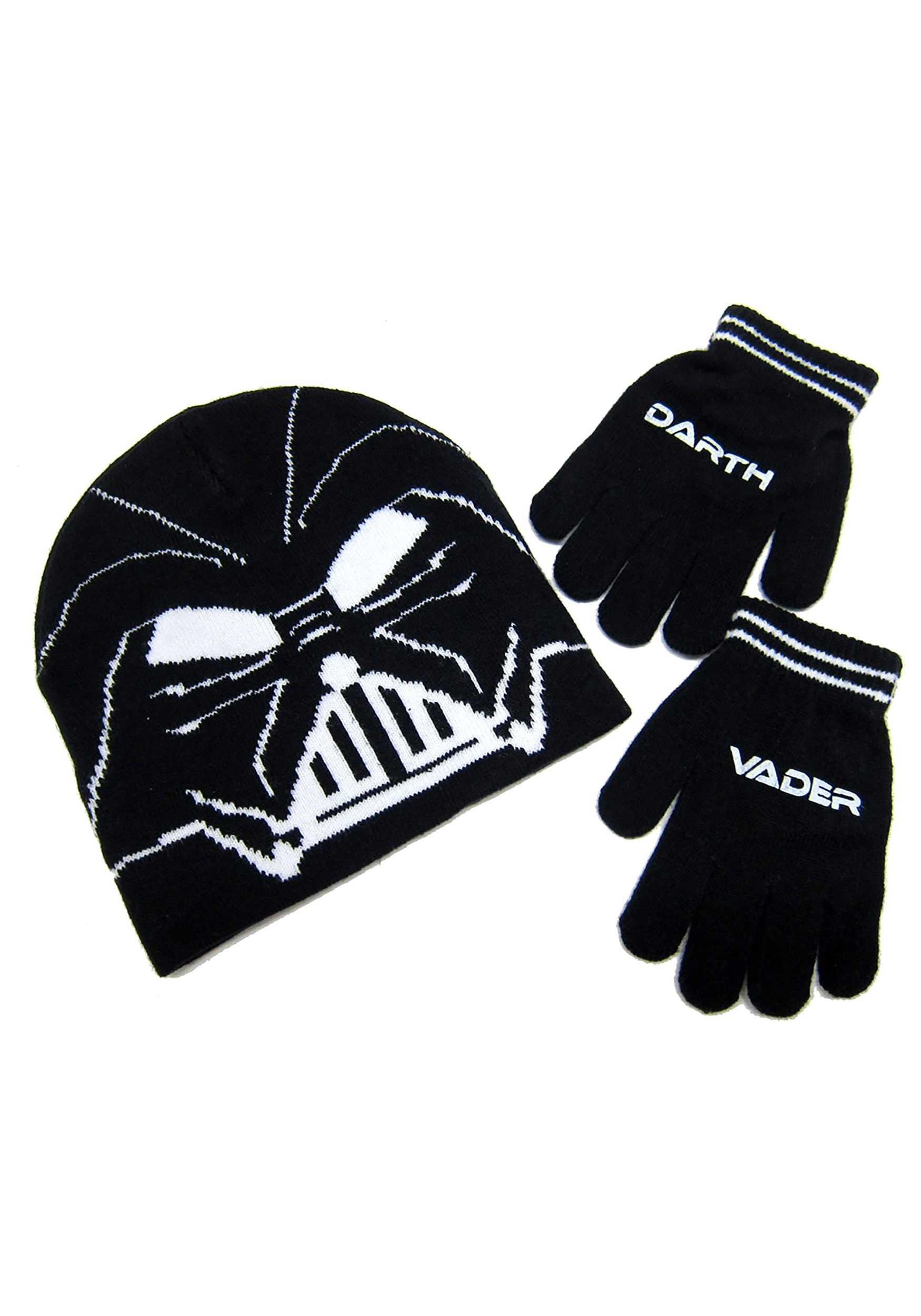 Darth Vader Kids Knit Beanie & Gloves Set from Star Wars