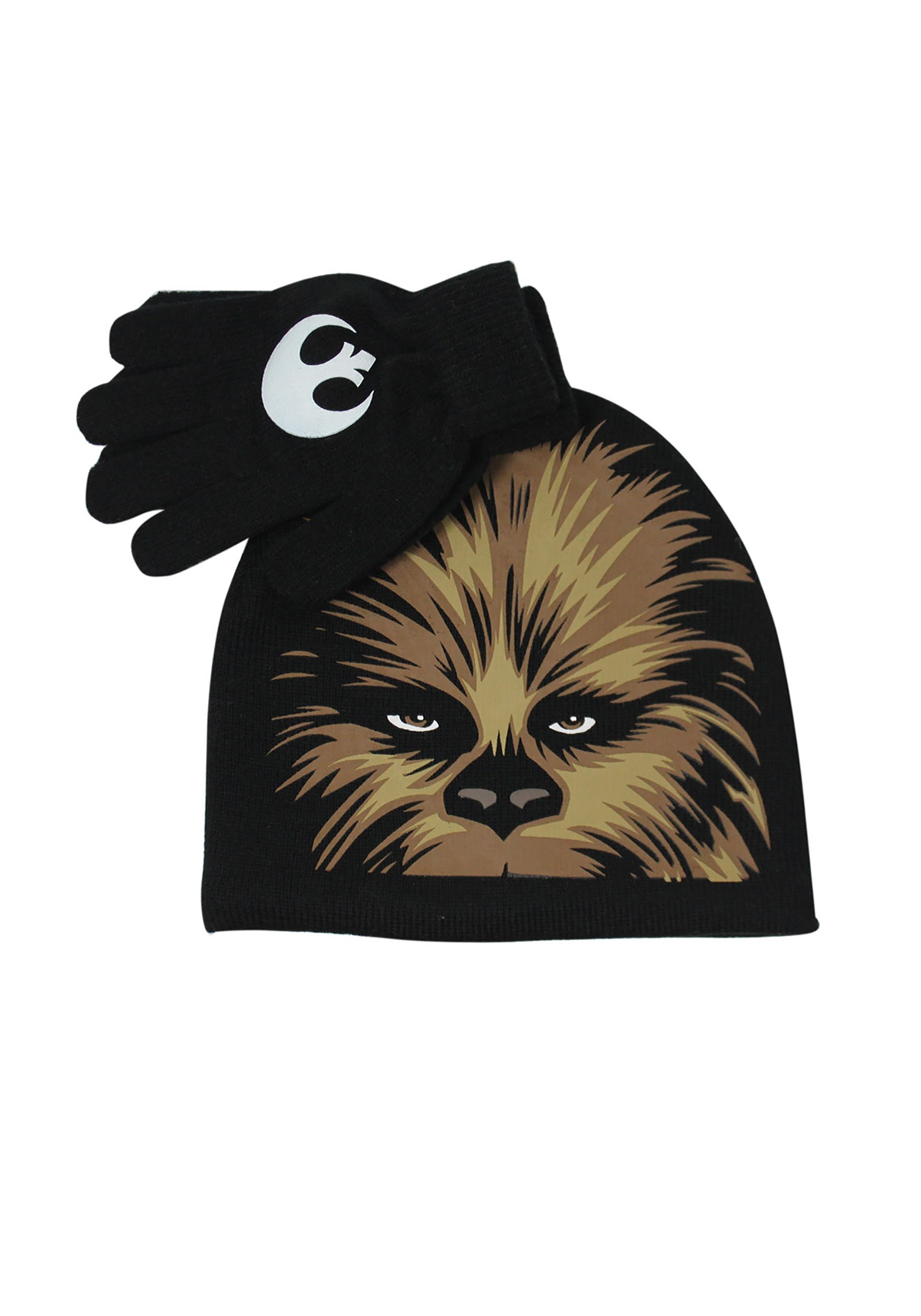 Kids Chewbacca Big Face Hat & Glove Set