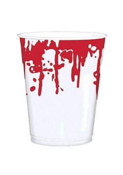 Halloween Bloody Hand Prints 16 oz. Party Cup