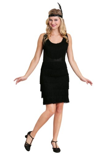 Click Here to buy Plus Size 1920s Flapper Costume from HalloweenCostumes, CDN Funds & Shipping