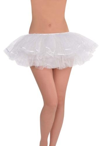 Women's White Shimmer Tutu